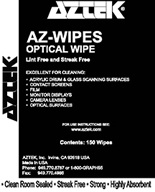 AZTEK Photo Wipes